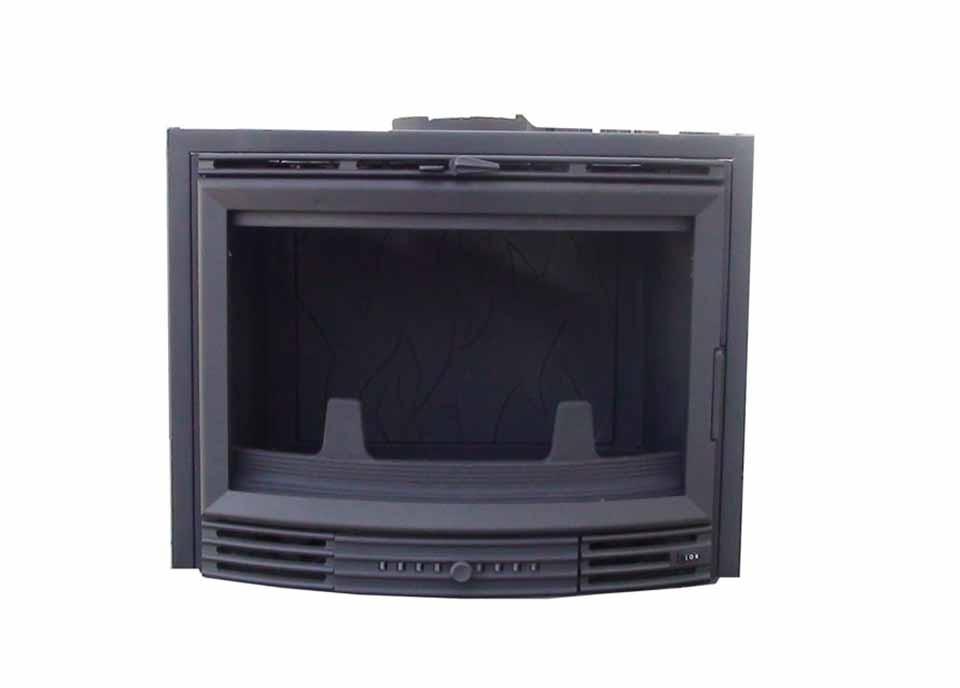 Chimenea Insertable 700 CURVO (Con marco negro)