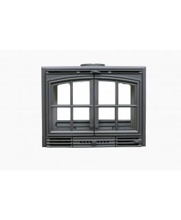 Chimenea Insertable 700 2P (Dos puertas marco negro)