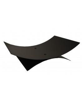Leñero Negro Ovalado 10154