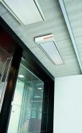 Paneles radiantes Ecosun, puestos en techo